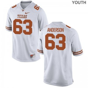 Limited Kids University of Texas Jersey Youth X Large of Alex Anderson - White