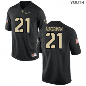 Alex Aukerman Youth(Kids) Jerseys Small Limited Army - Black