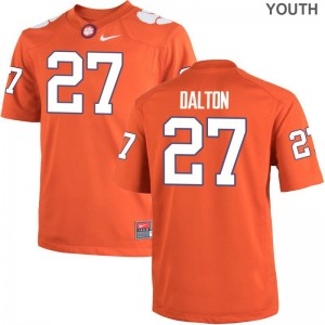 Clemson Tigers NCAA Alex Dalton Limited Jersey Orange Kids
