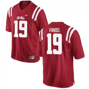 Alex Faniel Jersey Ole Miss Red Limited Mens Jersey
