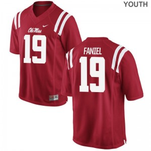 Alex Faniel Ole Miss Jersey X Large Red Limited Youth(Kids)