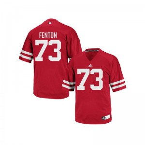 Wisconsin Badgers Red Men Authentic Alex Fenton Jerseys