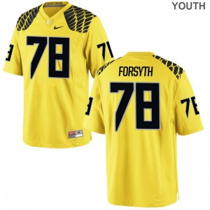 Ducks Alex Forsyth Jersey Small Youth(Kids) Limited - Gold