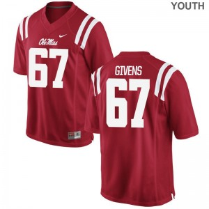 Alex Givens Ole Miss Jerseys Youth XL Kids Limited Jerseys Youth XL - Red