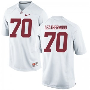For Men Alex Leatherwood Jersey White Limited University of Alabama Jersey