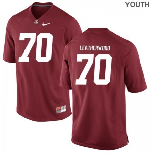 Alex Leatherwood Jerseys Youth XL Bama Limited Kids - Red