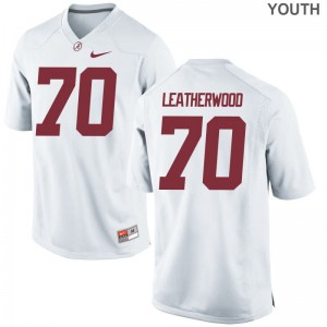 Alex Leatherwood University of Alabama Jerseys Youth Large White For Kids Limited