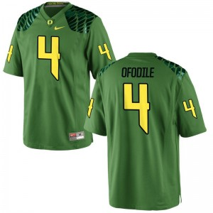 Oregon Alex Ofodile Jerseys Youth Large For Kids Limited Apple Green