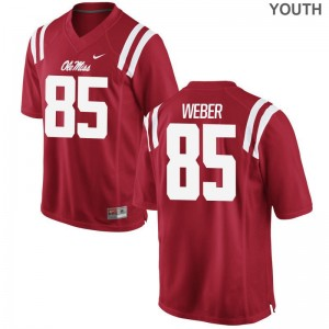 University of Mississippi Kids Limited Red Alex Weber Jerseys Youth Large