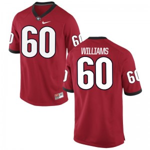 Men Allen Williams Jersey Player Red Limited UGA Bulldogs Jersey
