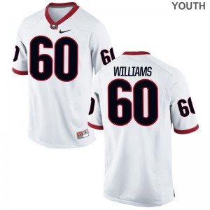 UGA Bulldogs Jerseys S-XL of Allen Williams Youth(Kids) Limited - White