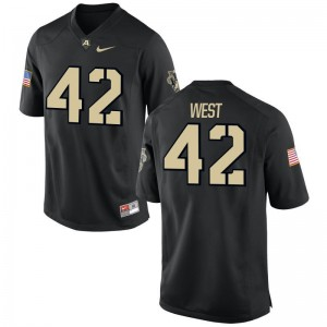 Amadeo West Jersey Mens Small Men United States Military Academy Black Limited