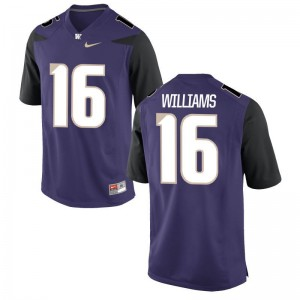 Limited Amandre Williams Jerseys Large Men UW Huskies - Purple