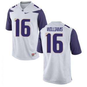 Amandre Williams Mens University of Washington Jersey White Limited Jersey