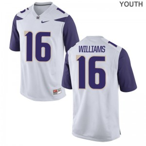 Amandre Williams Kids White Jersey Youth Large University of Washington Limited