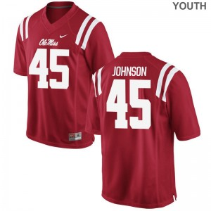 Amani Johnson For Kids Ole Miss Jerseys Red Limited Jerseys