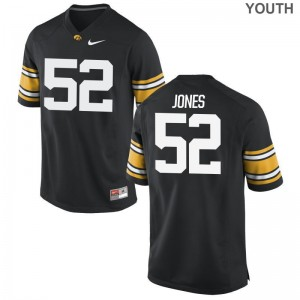 Iowa Youth Limited Black Amani Jones Jerseys Large