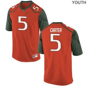 Orange Amari Carter Jerseys Small Miami Youth(Kids) Limited