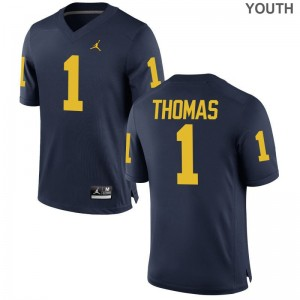 Ambry Thomas Wolverines Jerseys Youth Small Kids Limited - Jordan Navy