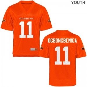 Amen Ogbongbemiga OK State Jersey Youth Small Youth(Kids) Orange Limited
