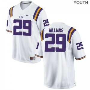 For Kids Andraez Williams Jersey Youth Medium Louisiana State Tigers Limited White