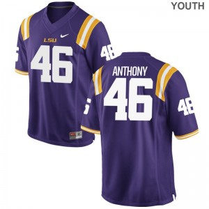 For Kids Limited LSU Tigers Jersey Small of Andre Anthony - Purple