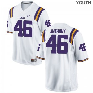 Louisiana State Tigers Andre Anthony Jerseys Official Youth Limited White Jerseys