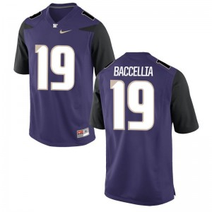 University of Washington Andre Baccellia Jerseys Mens Small Limited For Men Purple