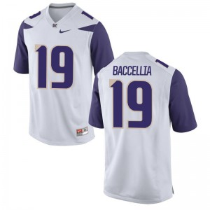 Limited Andre Baccellia Jerseys Men Large UW Mens - White