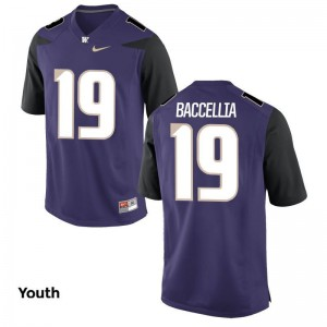 UW Huskies Limited Purple Youth Andre Baccellia Jersey Medium
