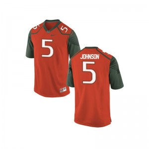 Andre Johnson Youth Orange_Green Jersey Large Limited Miami Hurricanes