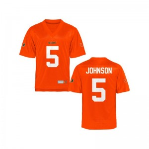 University of Miami Andre Johnson Youth Limited Jersey Orange