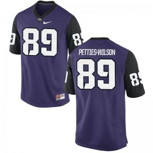 Limited Texas Christian University Andre Petties-Wilson For Men Purple Black Jerseys Small