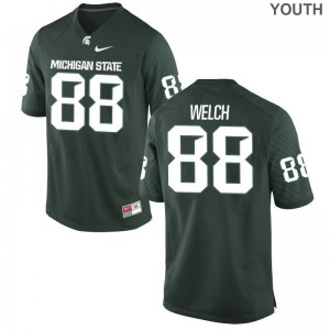 Michigan State Andre Welch Jersey Youth XL For Kids Green Limited