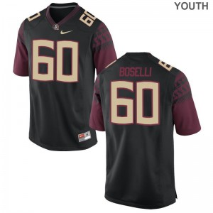 Seminoles Andrew Boselli Limited Youth Jersey X Large - Black