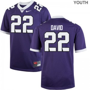 Texas Christian University Kids Purple Limited Andrew David Jerseys Youth Medium
