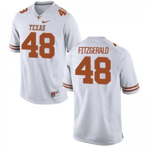 University of Texas Limited White Mens Andrew Fitzgerald Jersey Men Large
