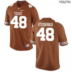 Orange Andrew Fitzgerald Jersey Youth XL Texas Longhorns Youth Limited