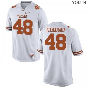Kids Andrew Fitzgerald Jerseys S-XL Texas Longhorns White Limited