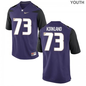 Andrew Kirkland UW Huskies Jersey Medium Purple Youth Limited