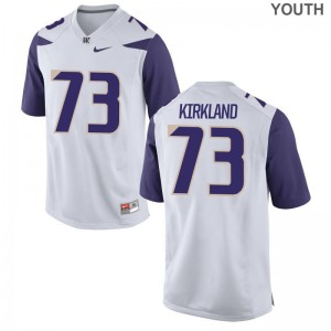 White Andrew Kirkland Jersey XL Washington Huskies Limited Kids