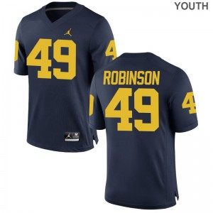 Limited Andrew Robinson Jersey Large Michigan Wolverines For Kids Jordan Navy