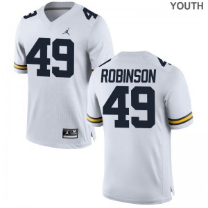 Limited University of Michigan Andrew Robinson Youth Jordan White Jersey Youth Small
