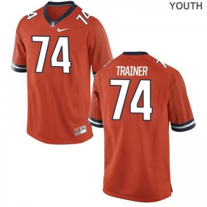 Andrew Trainer UIUC Kids Limited Jerseys Medium - Orange