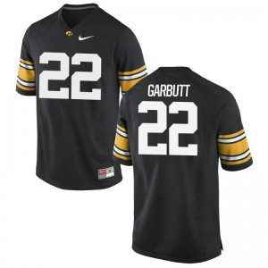 Iowa Hawkeyes NCAA Angelo Garbutt Limited Jersey Black Mens