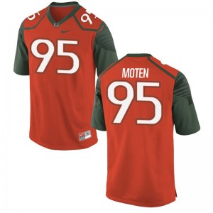 Miami Anthony Moten Jerseys Mens XXL Orange Men Limited