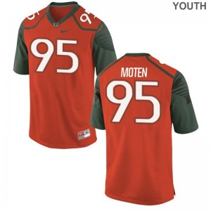 Anthony Moten University of Miami Jerseys Youth XL Kids Limited Jerseys Youth XL - Orange