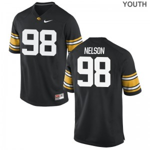 Anthony Nelson Iowa Hawkeyes Jerseys Youth XL Black Limited For Kids