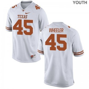 Anthony Wheeler Jerseys Medium Youth Longhorns Limited White