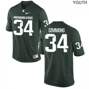 Michigan State Antjuan Simmons Jersey Youth Small Youth(Kids) Limited Green